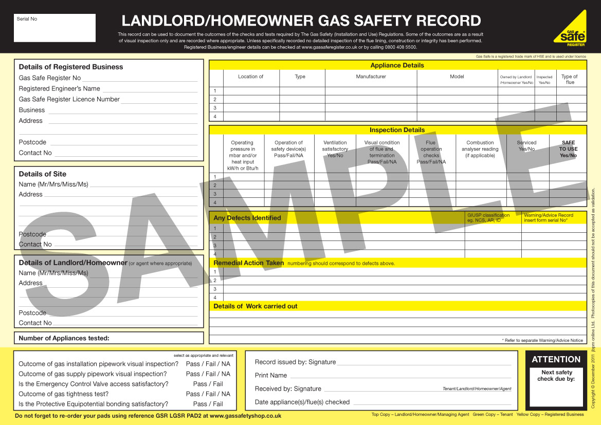 Gas Safety Records - What are they? - Gas Safe Register